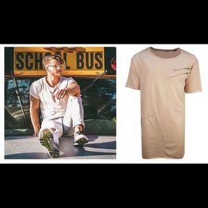 Soulstar Rostle T-shirt Salmon Pink Zippers size L